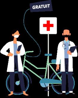 mise à disposition de vélos électriques pour le personnel soignant